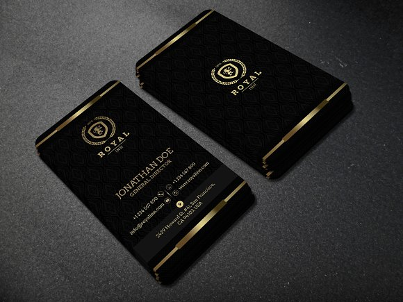 Gold and black business card 52 business card templates for Black and gold business cards