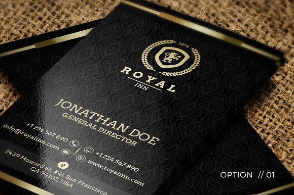 Gold and black business card 52 business card templates gold and black business card 52 business card templates creative market reheart Gallery
