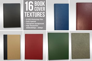 16 Book Cover Textures / Isolated