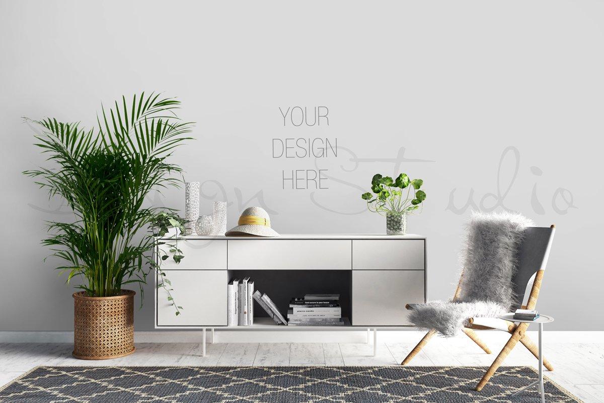 Interior psd frame mockup print mockups creative market for Interior design web app