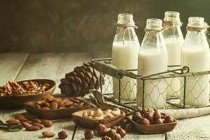 Vegan milk from nuts