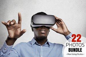 African Man Using Oculus