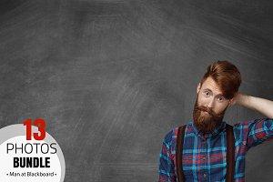 Bearded Man at Blackboard