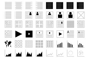 Illustrator Shapes for Wireframing