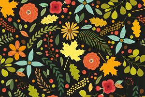 Hand drawn seamless vintage pattern