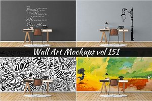 Wall Mockup - Sticker Mockup Vol 151
