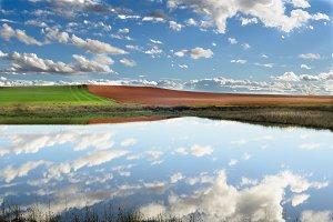 Reflection of de clouds