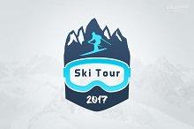Ski Tour Winter Sports Logo