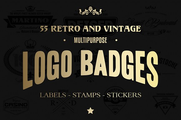 55 Logo Badges, Labels And Stamps