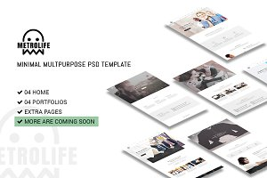 Metrolife Multipurpose PSD Template