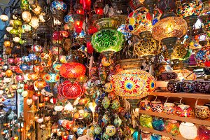 Turkish lanterns at the Grand Bazaar