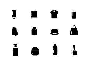 Packaging vector icons