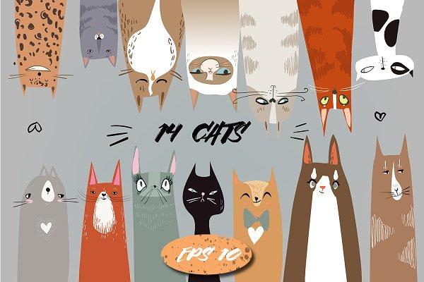 doodle cats set