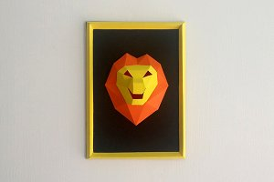 DIY Lion Frame - 3d papercraft