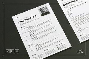 Resume/CV - Anderson