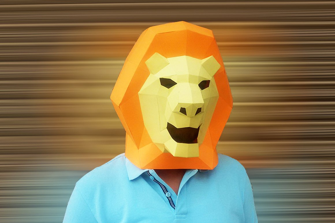 DIY Lion Mask