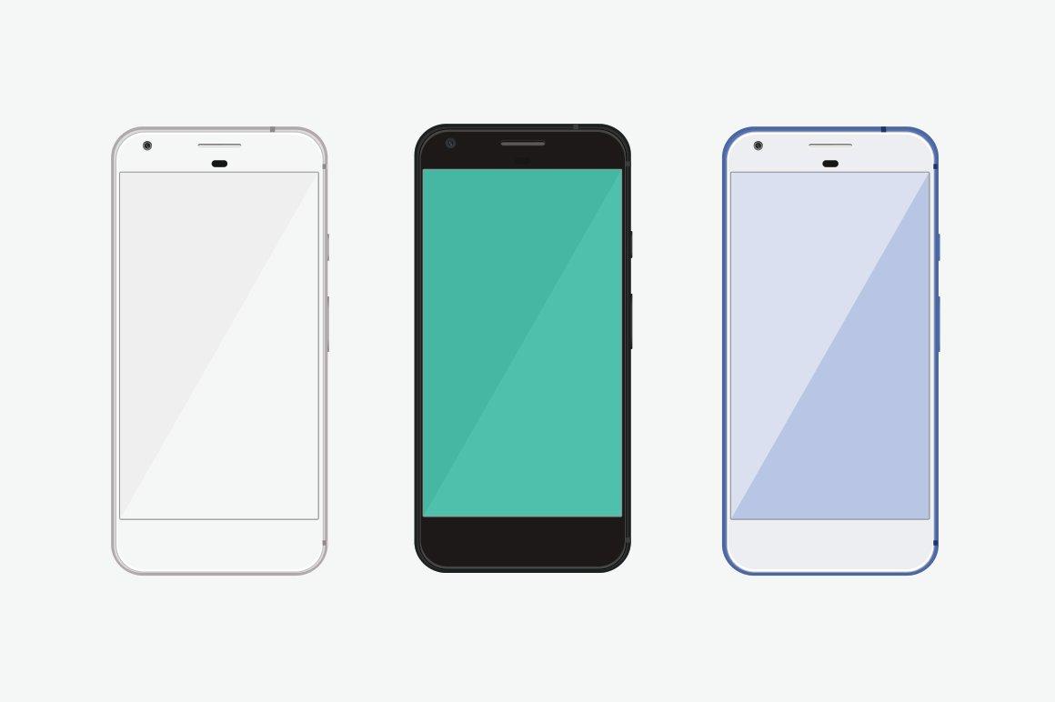 google pixel phone mockup product mockups creative market. Black Bedroom Furniture Sets. Home Design Ideas