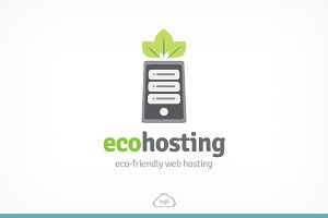 ECO Hosting Logo Template
