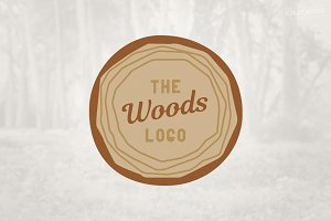 Wood Cross Section of Tree Logo