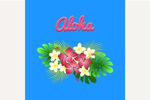 Aloha hibiscus flower