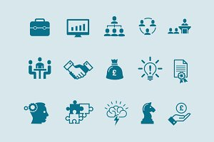 15 Business & Brainstorming Icons