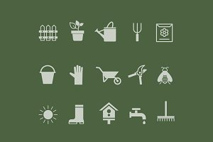 15 Gardening Icons