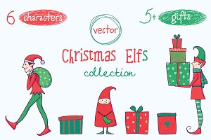 Christmas collection.Clip art.