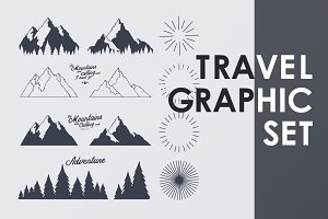 Travel graphic elements