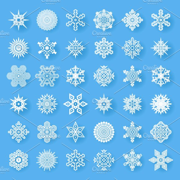 Snowflakes geometric