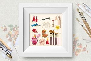 Make up vector illustration