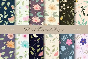 25% Off! Floral Digital Papers