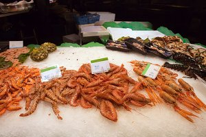 Prawns on Market Stall