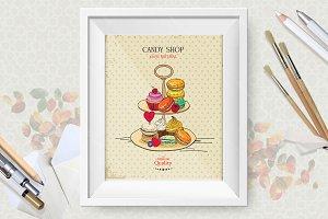 Dessert macaroon poster