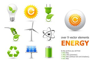 Green Energy Web Elements