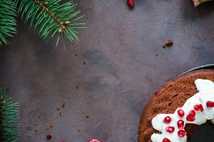 Christmas chocolate bundt cake