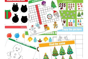 Christmas, new year kids activities