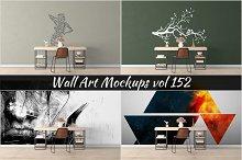 Wall Mockup - Sticker Mockup Vol 152