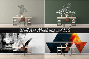 Wall Mockup - Sticker Mockup Vol 152