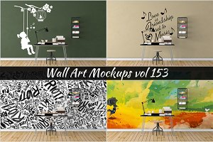 Wall Mockup - Sticker Mockup Vol 153