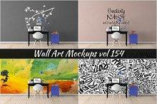Wall Mockup - Sticker Mockup Vol 154