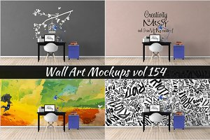 Wall Mockup - Sticker Mockup Vol 154