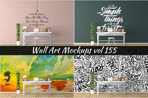 Wall Mockup - Sticker Mockup Vol 155