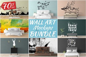 Wall Art Mockups BUNDLE V10