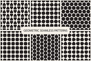 Seamless geometric patterns. 3 color