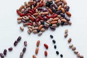 Six variety of dried beans