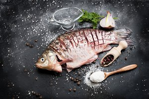 Delicious fresh fish whis spices