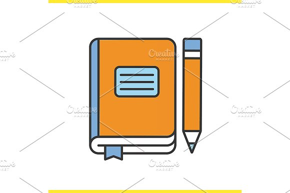 Diary Notebook With Pencil Vector