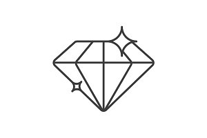 Diamond linear icon. Vector