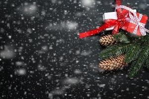 Christmas dark background