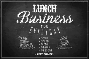 Business Lunch Menu